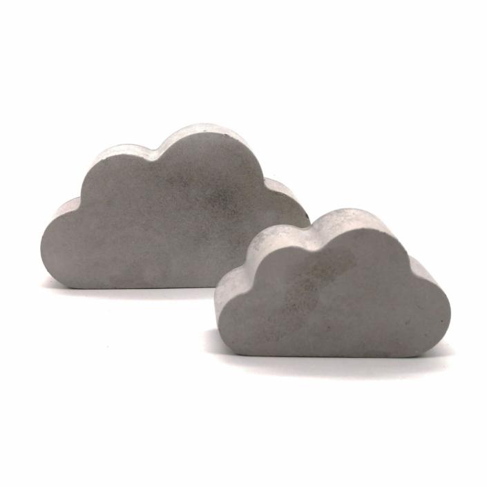 Babygeschenke personalisiert - Beton Wolken 2er Set