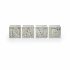 Außergewöhnliche Geschenke Geburtstag - Beton Buchstabenwürfel Wunschname