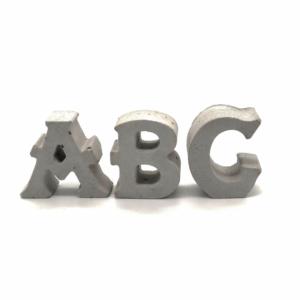 Außergewöhnliche Geschenke Geburtstag - Pustekuchen aus Beton Buchstaben von A-Z