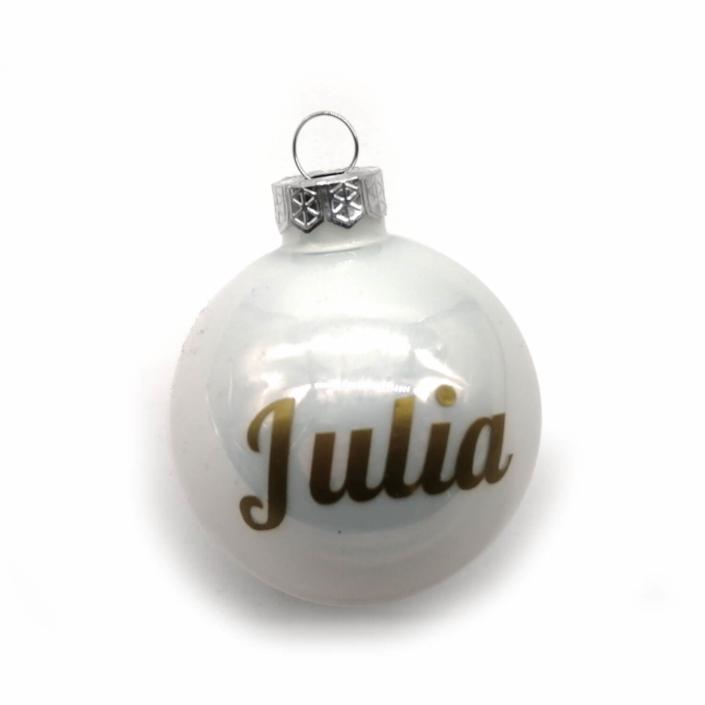 Dekorationsvorschläge für Weihnachte - Personalisierte Weihnachtsbaumkugeln mit Namen
