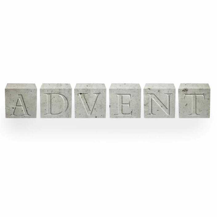 Dekorationsvorschläge für Weihnachte - Beton Buchstabenwürfel Advent