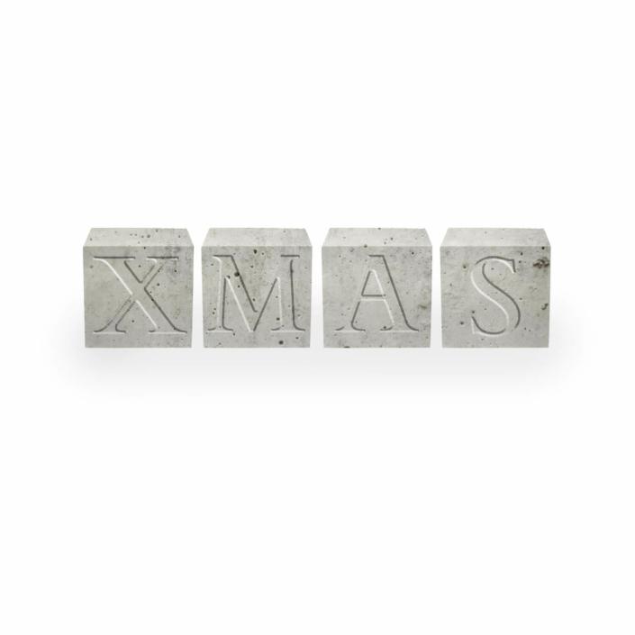 Dekorationsvorschläge für Weihnachte - Beton Buchstabenwürfel Xmas