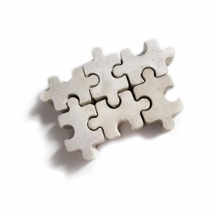 Hochzeitsgeschenk Ideen ausgefallen - Beton Puzzleteile 6er Set