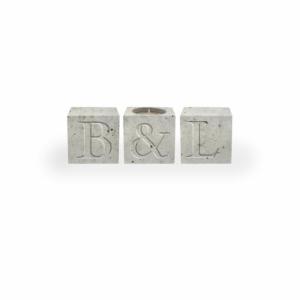 Hochzeitsgeschenk Ideen ausgefallen - Beton Buchstabenwürfel Initialen