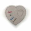 Hochzeitsgeschenk Ideen ausgefallen - Beton Herz mit Namen für das Brautpaar